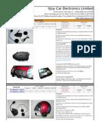 Catalogue-Motocycle Bluetooth Helmet Headset