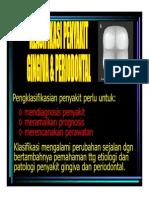 Pe 142 Slide Klasifikasi Penyakit Ginggiva Periodontal