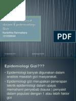 Hubungan Kausal Dalam Epidemiologi Gizi