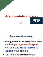 05222013 Argumentative Essays