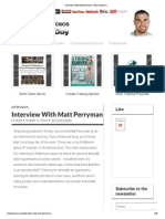 Matt Perryman Interview