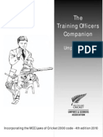 Cricket Umpiring - Trainers Officers Companion Level 2