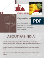 Fabindia Global Marketing in UK