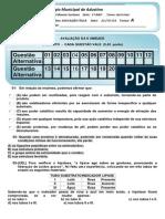 EDUCAÇÃO FÍSICA  II UNIDADE  - 1º ANO A- MATUTINO