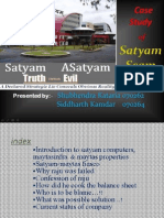 Case Study of Satyam Scam