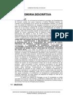 Memoria Descriptiva Desague Casca-huaripata