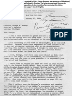 Apostle Delbert Stapley Letter to Michigan Governor George Romney