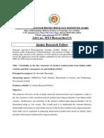 Nabi - Jrf Job Vacancy