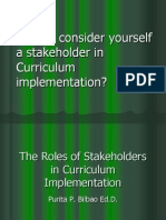 The Roles of Stakeholders in Curriculum Implementation
