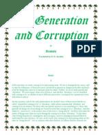 Aristotle On Generation and Corruption