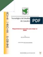 61647064 Requerimientos Esenciales Para Elegir Un DBMS