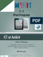 iPad at Ambrit