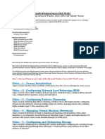 00 Course Outline - CBT Nuggets - Microsoft Windows Server 2012 70-412