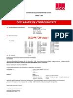 Declaratie de Conformitate Oleopator-Ro