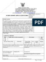 Application Form for Thailand Scholarship