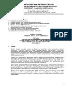 Surat Edaran Calon Peserta Tubel Dalam Negeri SDM Kesehatan 2013