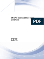 IBM SPSS Statistics Core System Users Guide