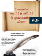 106794850 Diversitatea Tematica Si Stilistica in Opera Marilor Clasici