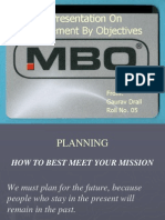 20304818 a Presentation on Management by Objectives
