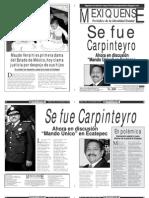 Versión impresa del periódico El mexiquense  13 septiembre 2013