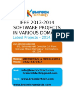 Brainrich IEEE Project Titles 2013 - 2014