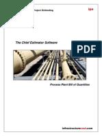 110- Process Plant Bill of Quantities