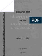 Gaston Mauger Cours de Langue et de Civilisation Françaises II  1967