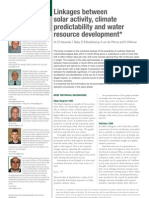 Linkages Between Solar Activity, Climate Predictability and Water Resource Development