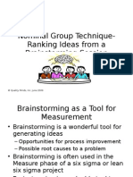 Nominal Group Technique-Ranking Ideas From a Brainstorming Session