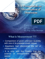 Measurement of Dimension