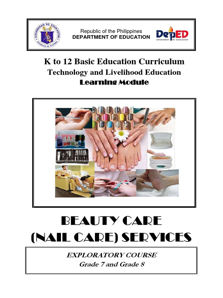K to 12 nail art learning module