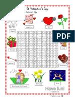 St Valentines Wordsearch