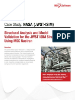 NASA's James Webb Space Telescope support structure analysis using MSC Nastran