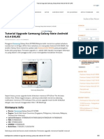 Tutorial Upgrade Samsung Galaxy Note Android 4.0