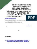 EL DERECHO CONSTITUCIONAL ENTRE MÉTODO COMPARADO Y CIENCIA DE LA CULTURA