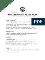 Reglament Oficial Del Joc Del 42