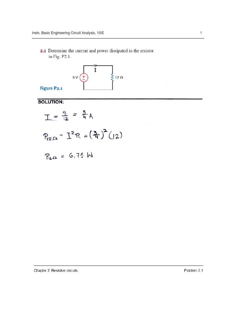 Basic Engineering Circuit Analysis Chapter 2 solutions | Electrical Network  | Electronics