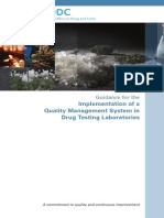 Guidance for the Implementation of a Quality Management System in Drug Testing Laboratories