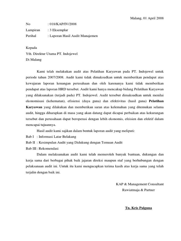 Laporan Audit Manajemen Pt Indojewel