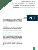COMPARAÇÃO DOS PARÂMETROS DO MODELO DE potência crítica entre homens e mulheres mediante correção alométrica