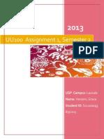 UU100 Assignment 1_S11100093