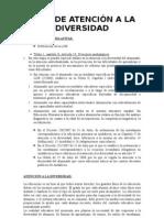Plan de atención a la diversidad Tirso de Molina