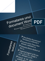 Formatarea Unui Document Word