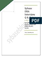 Sybase DBA Interview Q