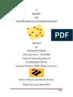 Report - Nanomagnetism