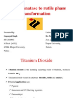 Review of the Anatase to Rutile Phase Transformations