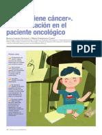 «Su hijo tiene cáncer». La información en el paciente oncológico