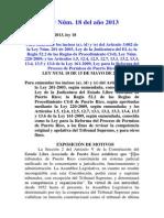 Ley Núm. 18 del 2013