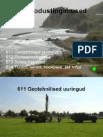 611 Geotehnilised uuringud