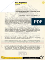 COMUNICADO SOBRE LA RATIFICACIÓN DE SENTENCIA AL PROFESOR TZOTZILALBERTO PATISHTÁN